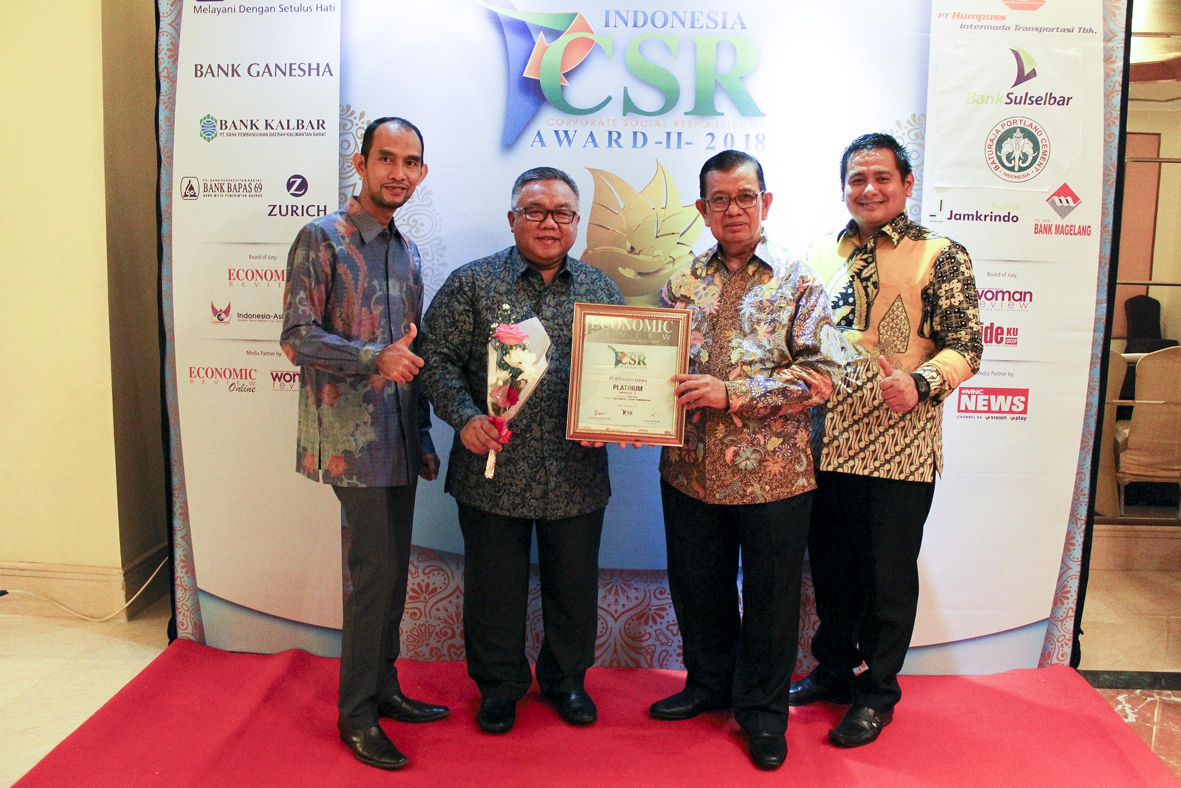 Bankaltimtara Raih Paltinum di ICSRA II 2018